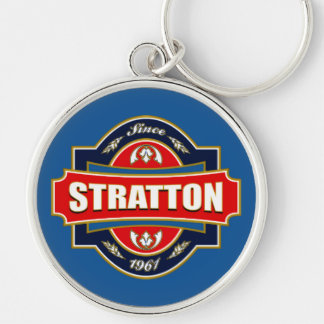 Stratton Old Label Silver-Colored Round Keychain