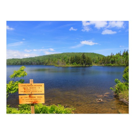 Stratton Pond on the Long Trail Vermont Postcard