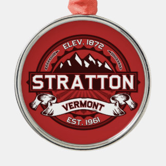 Stratton Red Metal Ornament