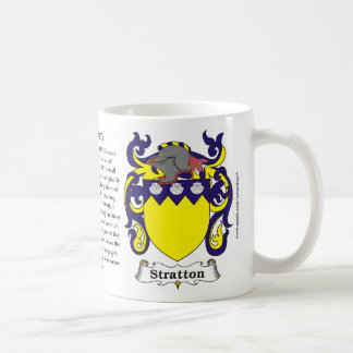 Stratton, the Origin, the Meaning and the Crest on Coffee Mug