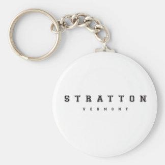 Stratton Vermont Basic Round Button Keychain