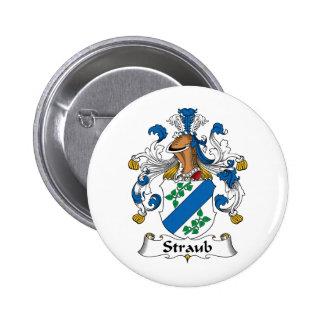 Straub Family Crest Pinback Button