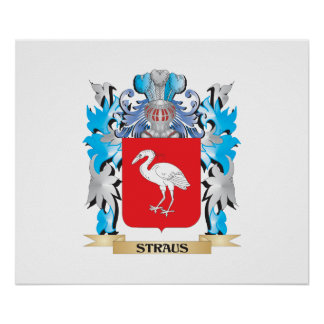 Straus Coat of Arms - Family Crest Print