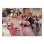 Strauss and Lanner - The Ball, 1906 Greeting Card