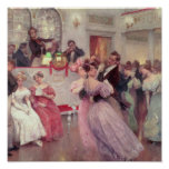 Strauss and Lanner - The Ball, 1906 Print