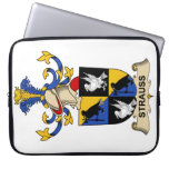 Strauss Family Crest Laptop Sleeves