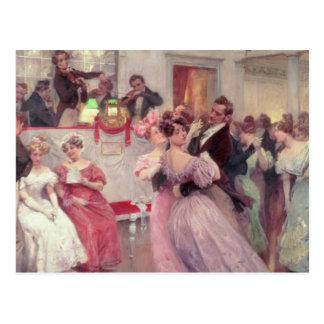 Strauss y Lanner - la bola, 1906 Postales