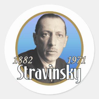 Stravinsky Classic Round Sticker