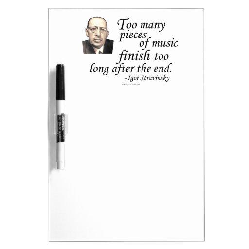 Stravinsky en conclusiones tableros blancos