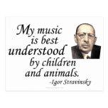 Stravinsky en la comprensión tarjetas postales