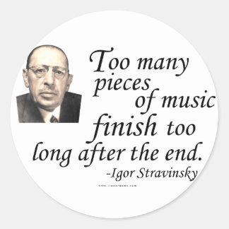 Stravinsky on Endings Classic Round Sticker