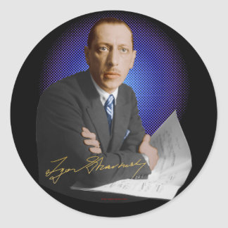 Stravinsky Signature Classic Round Sticker