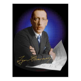 Stravinsky Signature Postcard