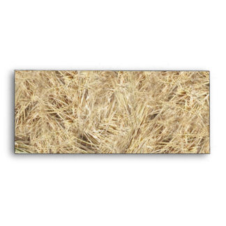 Straw Background Envelope