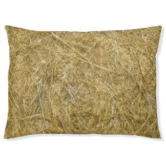 Straw Bale Dog Bed