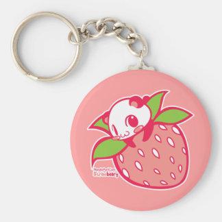 Straw-beary Keychain