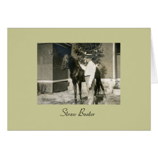 Straw Boater Stationery Note Card