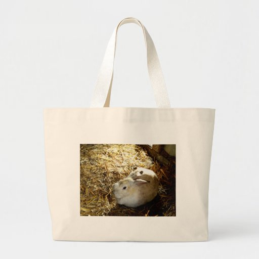 Straw Bunny Canvas Bags