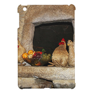 Straw chickens and fruit on mantelpiece, Spain iPad Mini Cover