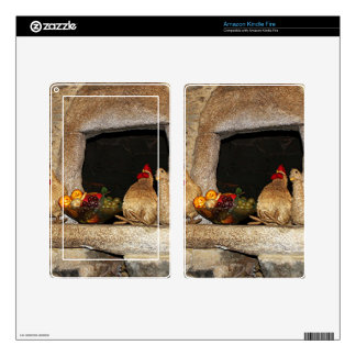 Straw chickens and fruit on mantelpiece, Spain Skins For Kindle Fire