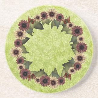 Straw Flowers & Butterflies Coasters