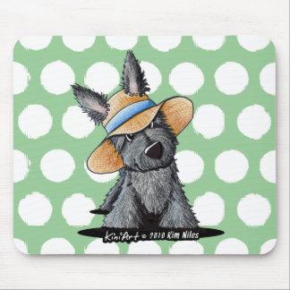 Straw Hat Scottie Dog Mouse Pad