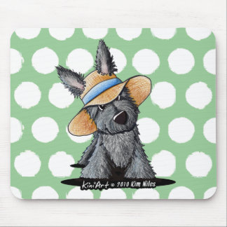 Straw Hat Scottie Dog Mouse Pad