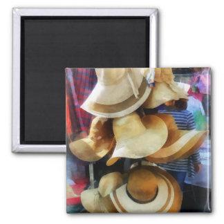 Straw Hats Fridge Magnet