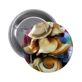 Straw Hats Pinback Buttons