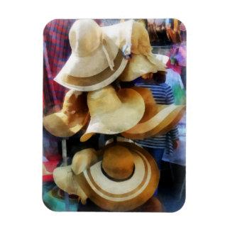 Straw Hats Rectangular Magnet
