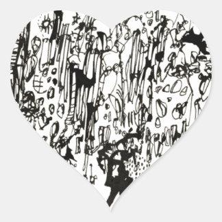 straw heart sticker