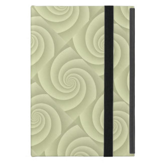 Straw Spiral in brushed metal texture iPad Mini Cover