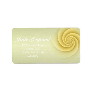 Straw Spiral in brushed metal texture Custom Address Labels
