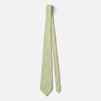 Straw Spiral in brushed metal texture Tie