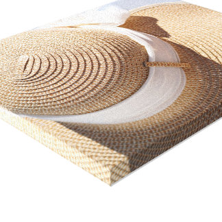 Straw Sun Hat Canvas Print