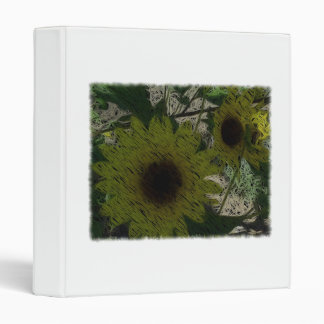 """Straw"" Sunflowers Binder"