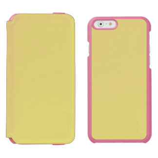 STRAW (the color of hay / pale yellow) ~ iPhone 6/6s Wallet Case
