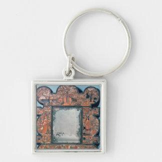 Straw-work mirror frame, 1670-80 keychain