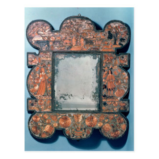 Straw-work mirror frame, 1670-80 postcard