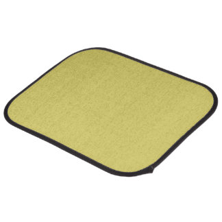 Straw Yellow Blonde Hair Color Solid Background Car Floor Mat