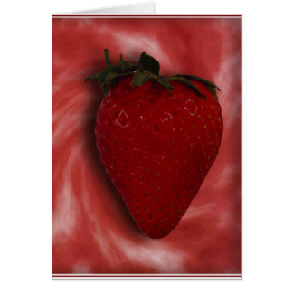 Strawberr Swirl Greeting Card
