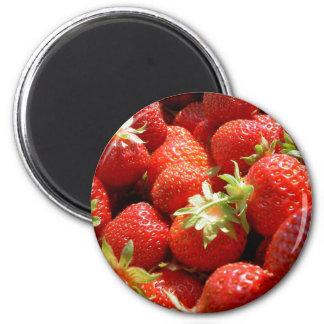 Strawberries 2 Inch Round Magnet