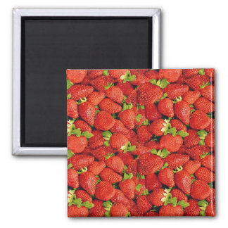 Strawberries 2 Inch Square Magnet
