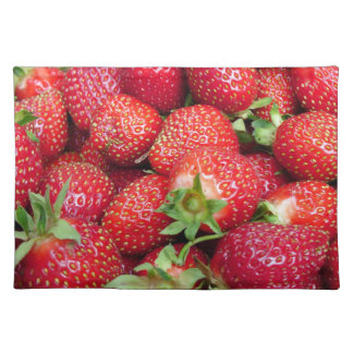 Strawberries 9 cloth placemat