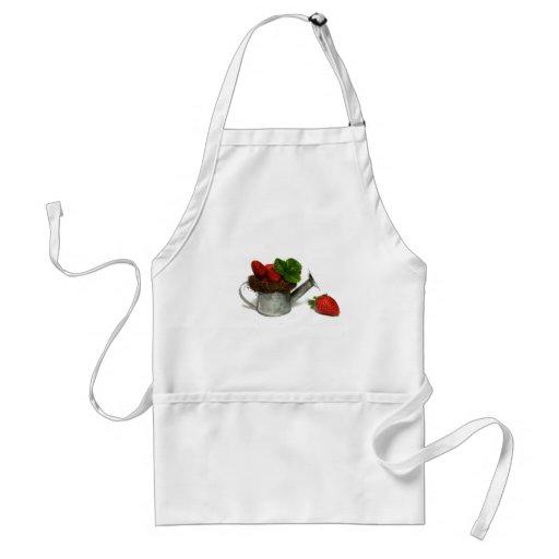 strawberries, adult apron