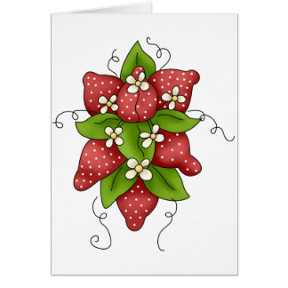 Strawberries and Blossoms Greeting Cards