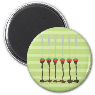Strawberries and Chocolate Fondue Refrigerator Magnet