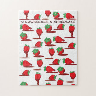 Strawberries and Chocolate Jigsaw Puzzles