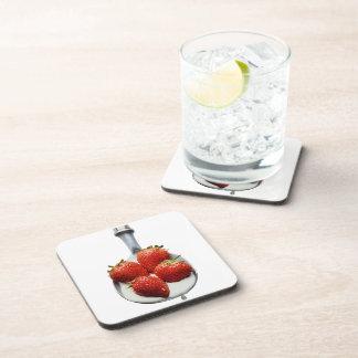 Strawberries and Cream Beverage Coaster