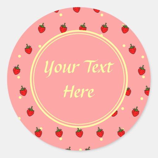 Strawberries and Cream Customizable Sticker